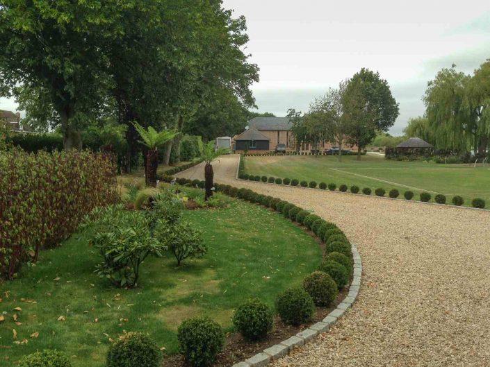 New driveway in garden