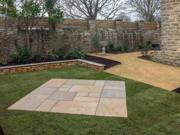 New paving in garden